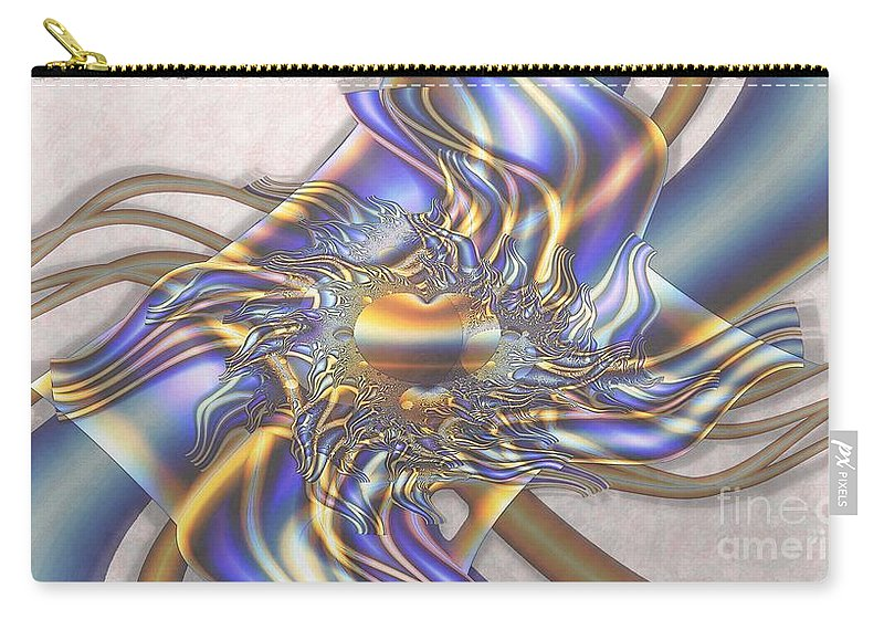 Fractal Carry-all Pouch featuring the digital art Flowering Vine by Ron Bissett