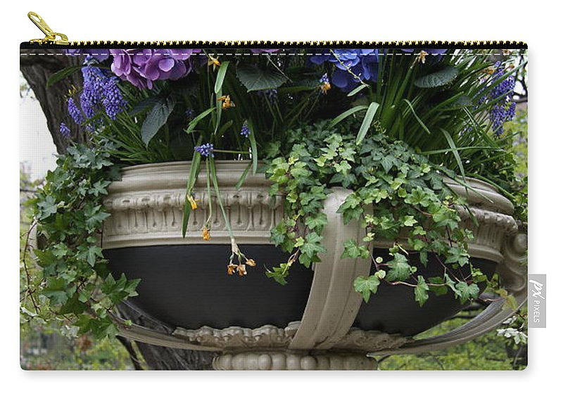 Hydrangea Carry-all Pouch featuring the photograph Flowerpot With Hydrangea by Christiane Schulze Art And Photography