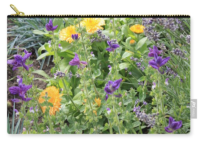 Flowers Carry-all Pouch featuring the photograph Flowers In Charlottenburg Palace Garden by Carol Groenen