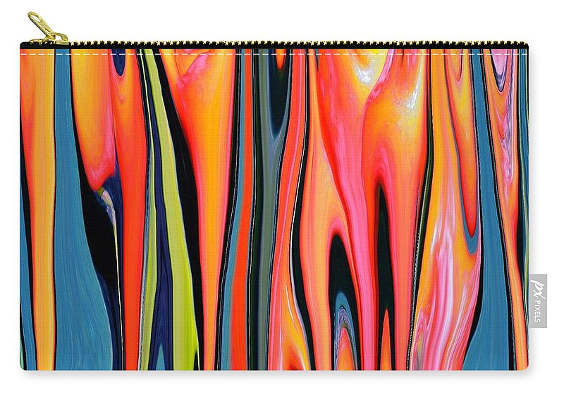 Turquoise Carry-all Pouch featuring the painting Flowing by Renate Nadi Wesley