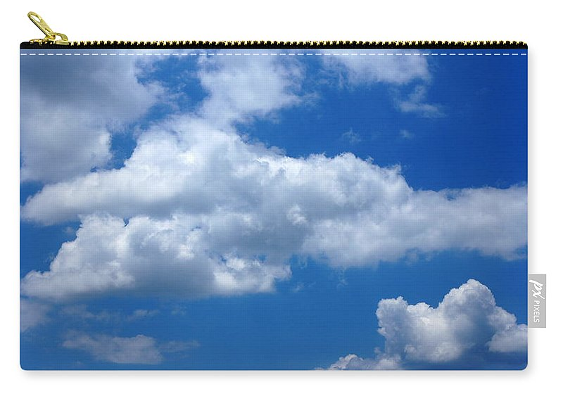 Clouds Carry-all Pouch featuring the photograph Fluff by Paul Wilford