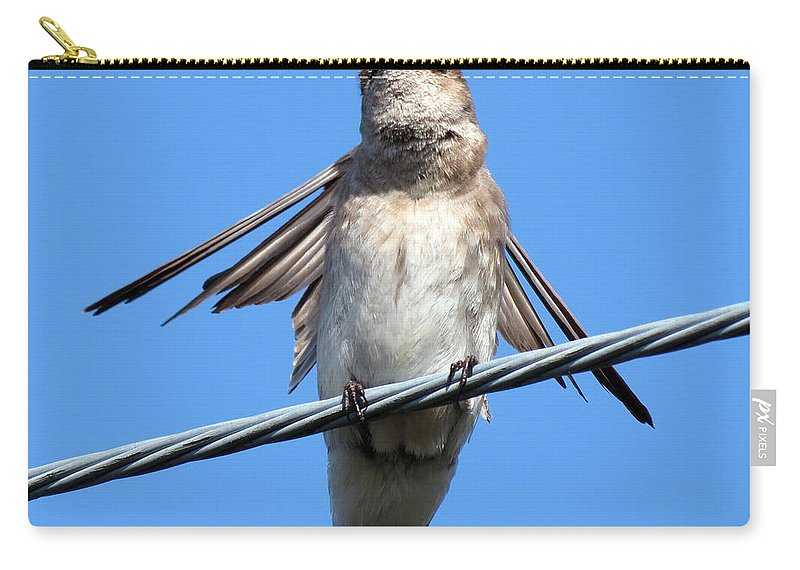 Swallow Carry-all Pouch featuring the photograph Fluttering Swallow by Darleen Stry