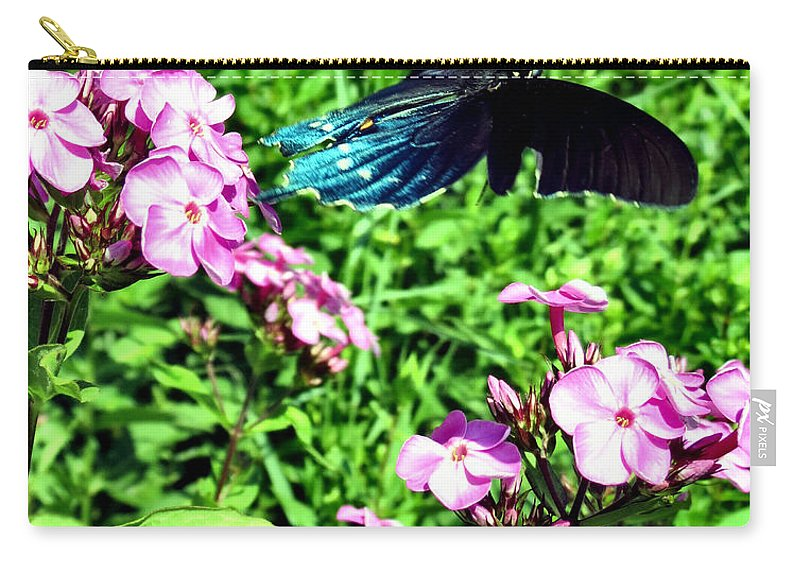 Comma Carry-all Pouch featuring the photograph Fly Away by Art Dingo