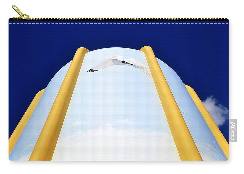 Fine Art Photography Carry-all Pouch featuring the photograph Flying Ibis by David Lee Thompson