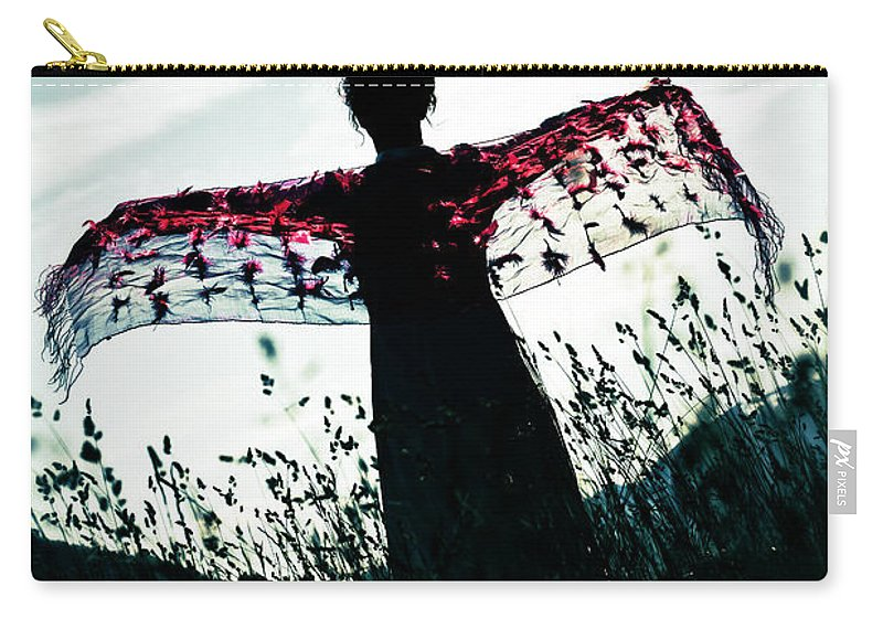 Female Carry-all Pouch featuring the photograph Flying by Joana Kruse