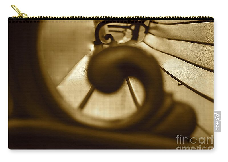 Park Bench Carry-all Pouch featuring the photograph Focal Point by Susan Herber