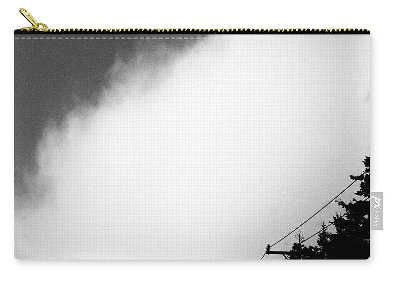 Fog Carry-all Pouch featuring the digital art Fog Lifting by Lizi Beard-Ward