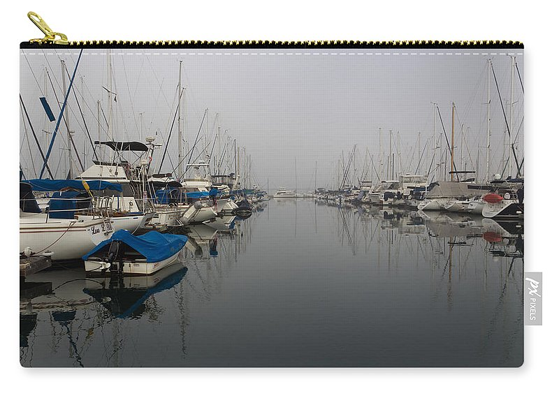 Art Carry-all Pouch featuring the photograph Foggy Morn by Heidi Smith