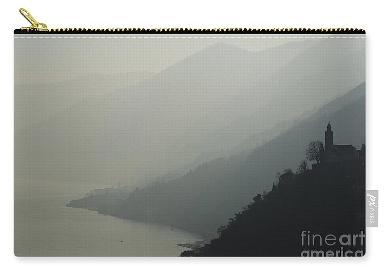 Church Carry-all Pouch featuring the photograph Foggy Mountain by Mats Silvan