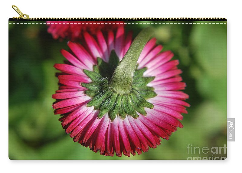 Yhun Suarez Carry-all Pouch featuring the photograph Folded Flower by Yhun Suarez