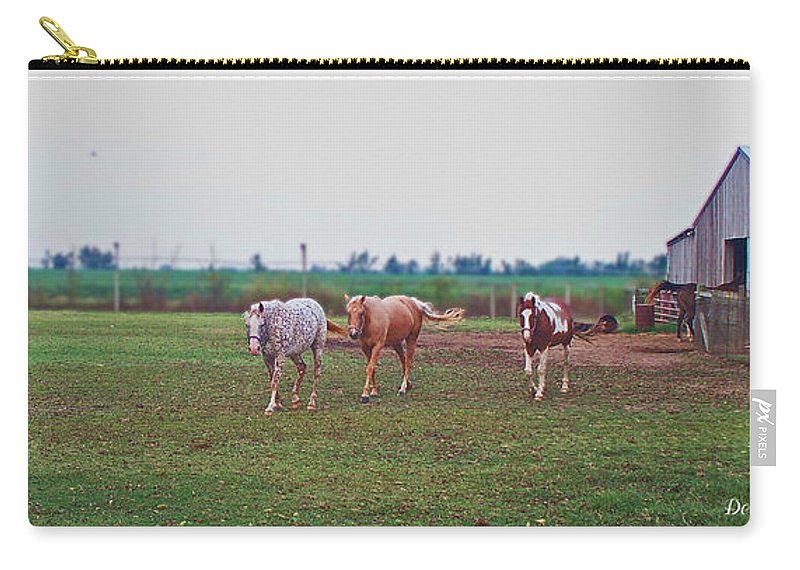 Nature Carry-all Pouch featuring the photograph Follow The Leader by Debbie Portwood
