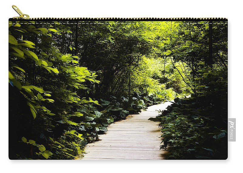 Follow Your Path Carry-all Pouch featuring the photograph Follow Your Path by Bill Cannon