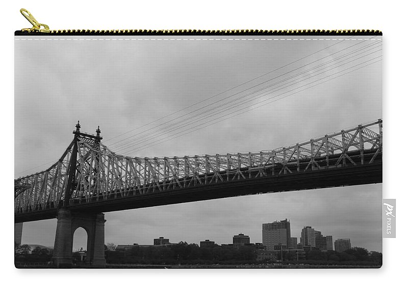 Queensboro Bridge Carry-all Pouch featuring the photograph Foot Traffic On The Bridge Only by Catie Canetti