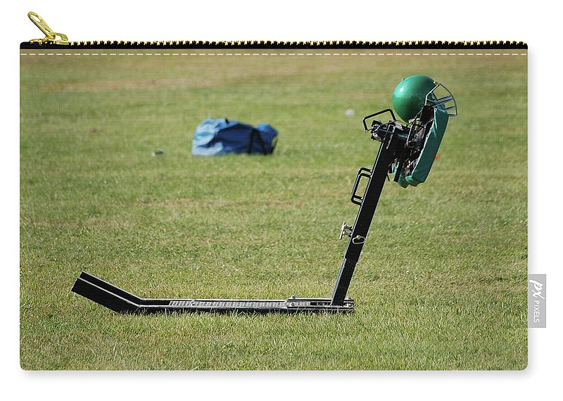 Sports Carry-all Pouch featuring the photograph Football Sled by Thomas Woolworth