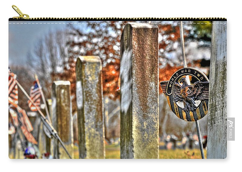 Service Carry-all Pouch featuring the photograph For Their Service by Shirley Tinkham