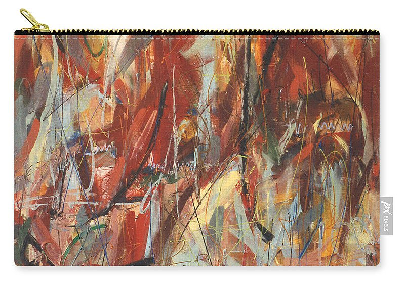 Abstract Carry-all Pouch featuring the painting For Want Of by Lynne Taetzsch