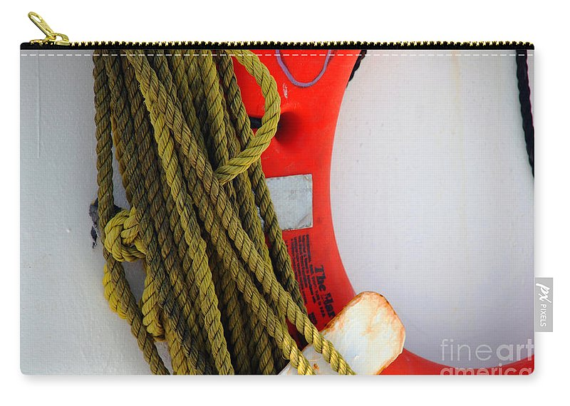 Safety Carry-all Pouch featuring the photograph For Your Safety-ii by Susanne Van Hulst
