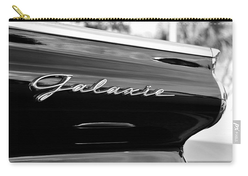Fine Art Photography Carry-all Pouch featuring the photograph Ford Galaxie by David Lee Thompson