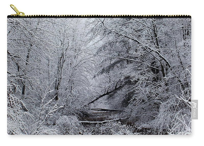 New York Carry-all Pouch featuring the photograph Forest Lace by Christian Mattison