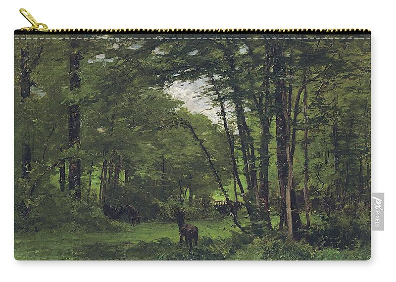 Fontainebleau Carry-all Pouch featuring the painting Forest Of Fontainebleau by Nathaniel Hone