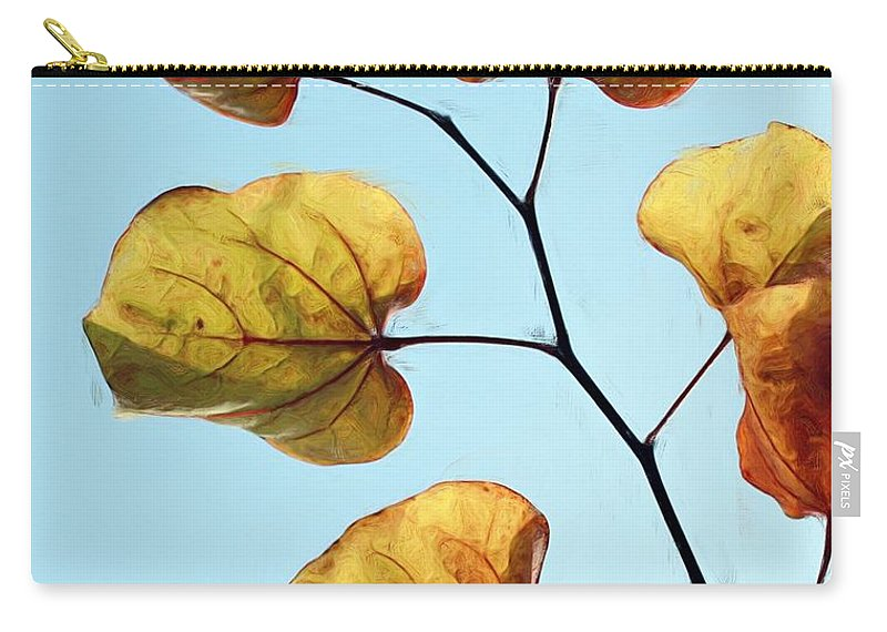 Redbud Carry-all Pouch featuring the photograph Forest Pansy Autumn by Heidi Smith