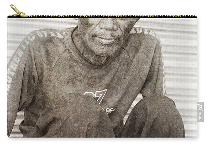 Abandoned Carry-all Pouch featuring the photograph Forgotten Faces 3 by Skip Nall