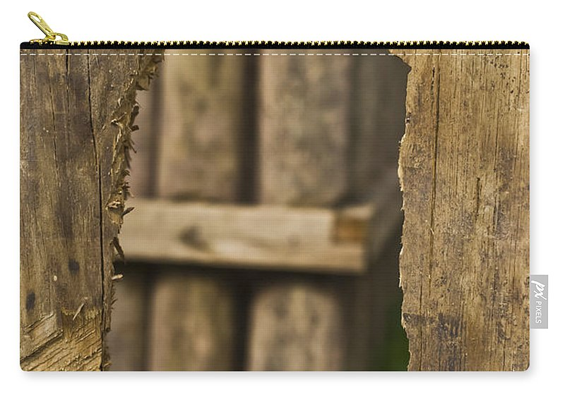 Textures Carry-all Pouch featuring the mixed media Fort Walls by Kim Henderson