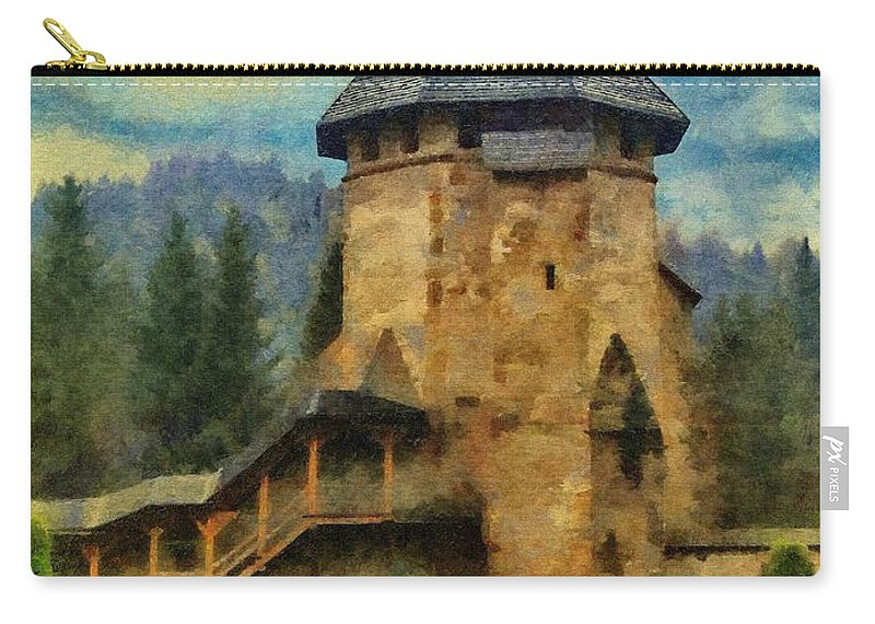 Fort Carry-all Pouch featuring the painting Fortified Faith by Jeffrey Kolker