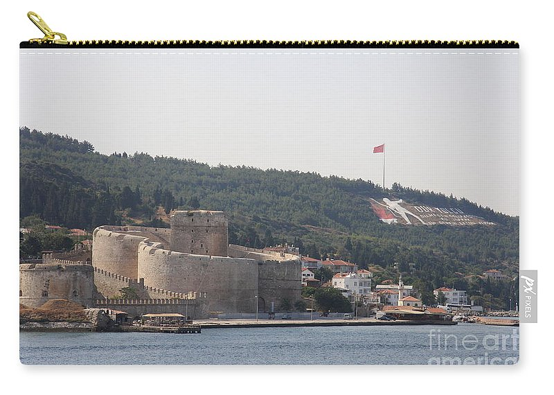 Fortress Carry-all Pouch featuring the photograph Fortress Canakkale And War Memoriel - Dardanelles by Christiane Schulze Art And Photography