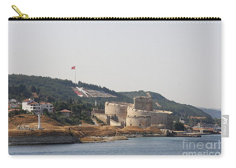 Fortress Carry-all Pouch featuring the photograph Fortress Canakkale - Dardanelles by Christiane Schulze Art And Photography
