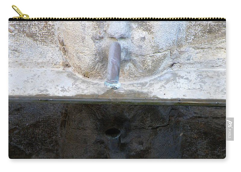 Fountain Carry-all Pouch featuring the photograph Fountain Face by Lainie Wrightson