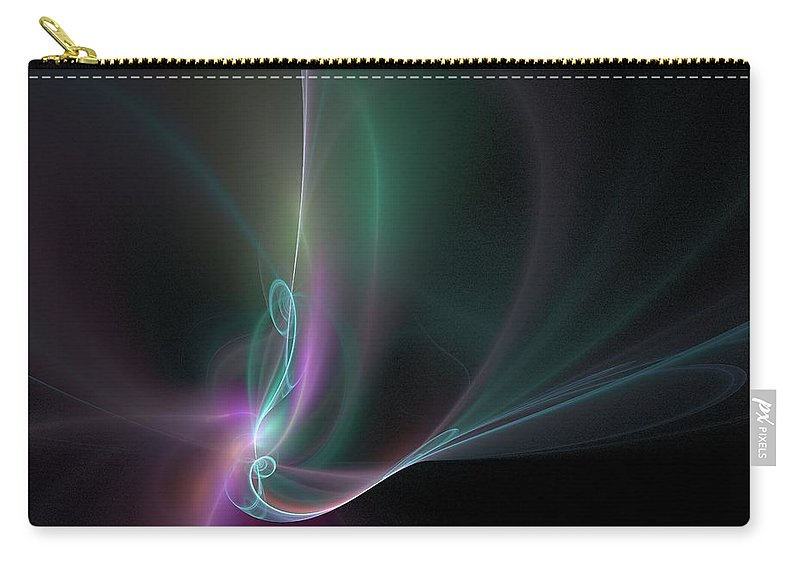 Background Carry-all Pouch featuring the digital art Fractal - 32 Multi Color by Henrik Lehnerer