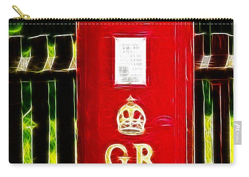 Pillar Box Carry-all Pouch featuring the photograph Fractalius Pillar Box by Chris Thaxter