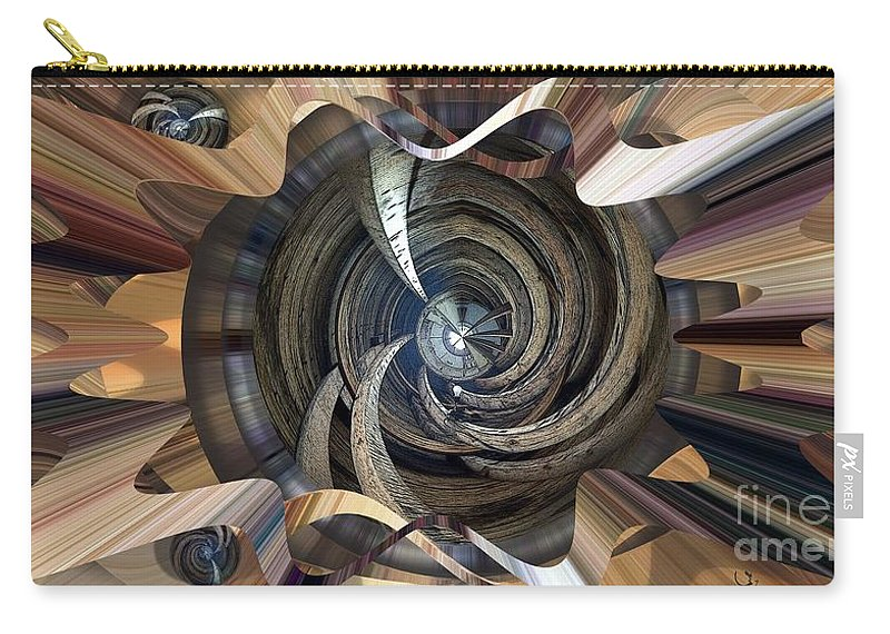 Abstract Carry-all Pouch featuring the digital art Frame Ceiling by Ron Bissett