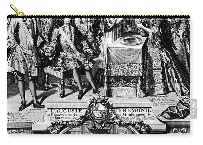 1704 Carry-all Pouch featuring the photograph France: Baptism, 1704 by Granger