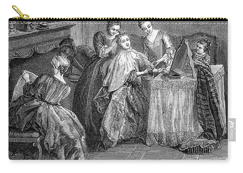 18th Century Carry-all Pouch featuring the photograph France: Daily Life by Granger