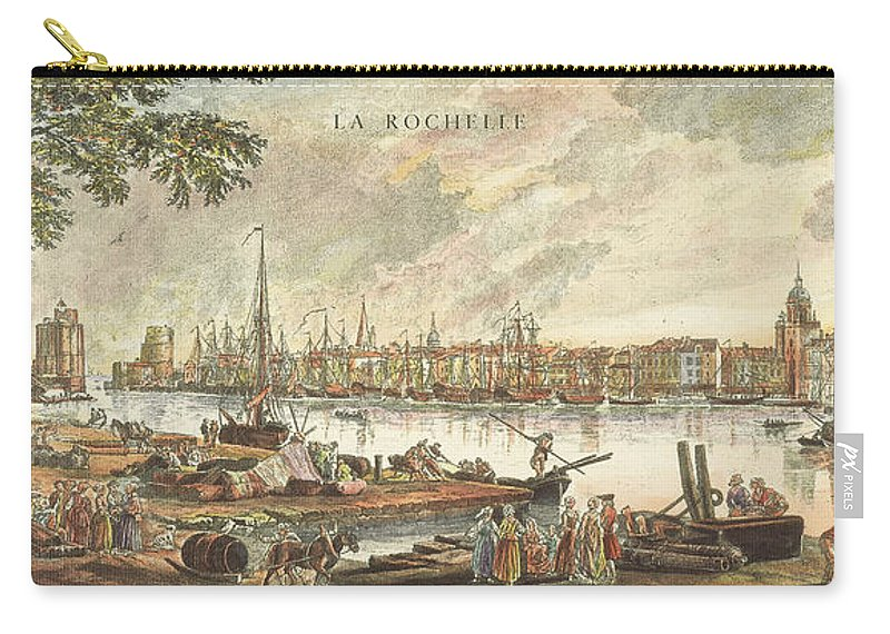 1762 Carry-all Pouch featuring the photograph France: La Rochelle, 1762 by Granger