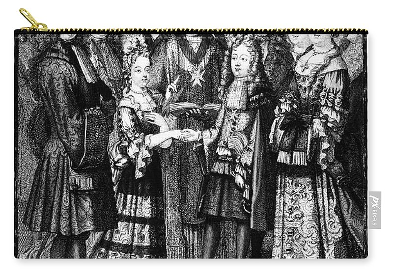 1697 Carry-all Pouch featuring the photograph France: Royal Wedding by Granger
