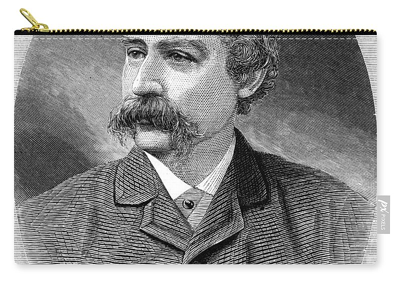 1885 Carry-all Pouch featuring the photograph Francis Brett Harte by Granger