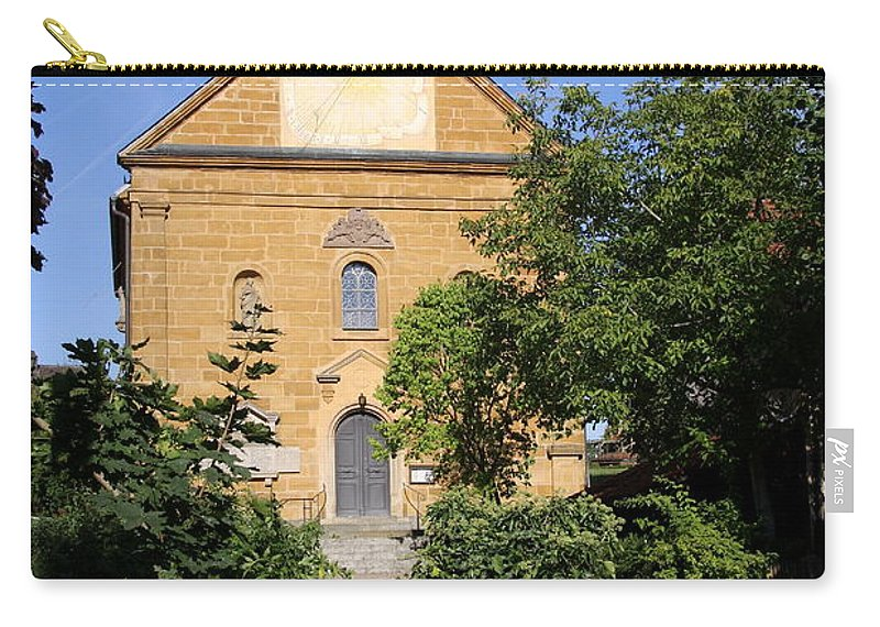 Franconian Church Carry-all Pouch featuring the photograph Franconian Village Church by Christiane Schulze Art And Photography