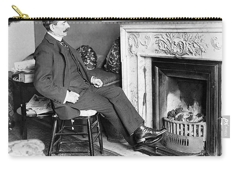 19th Century Carry-all Pouch featuring the photograph Frank Harris (1854-1931). American Writer Born In Galway, Ireland by Granger