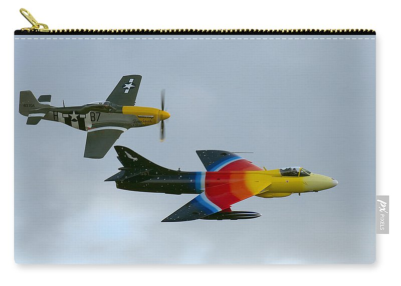 Duxford Carry-all Pouch featuring the photograph Frankie And Missie by Gary Eason