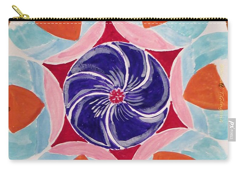 Circles Carry-all Pouch featuring the painting Free Hand by Sonali Gangane
