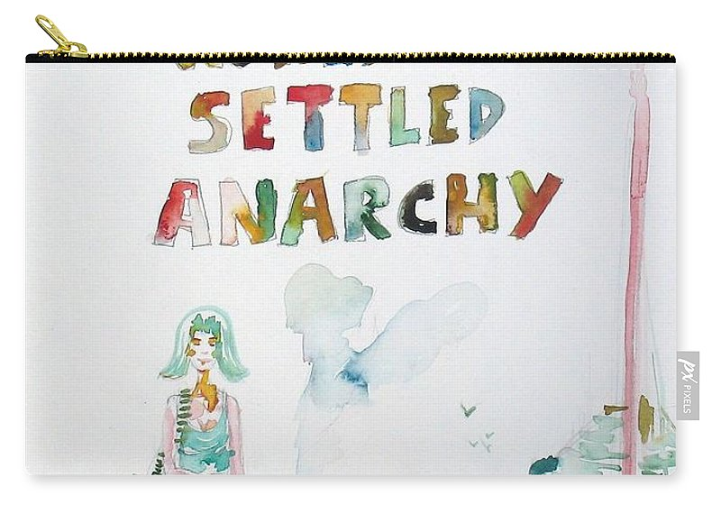 Seascape Carry-all Pouch featuring the painting Free In A World Of Settled Anarchy by Fabrizio Cassetta