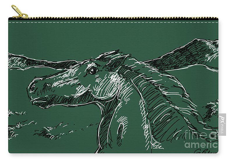 Horse.wild Carry-all Pouch featuring the digital art Free Spirit by George Pedro