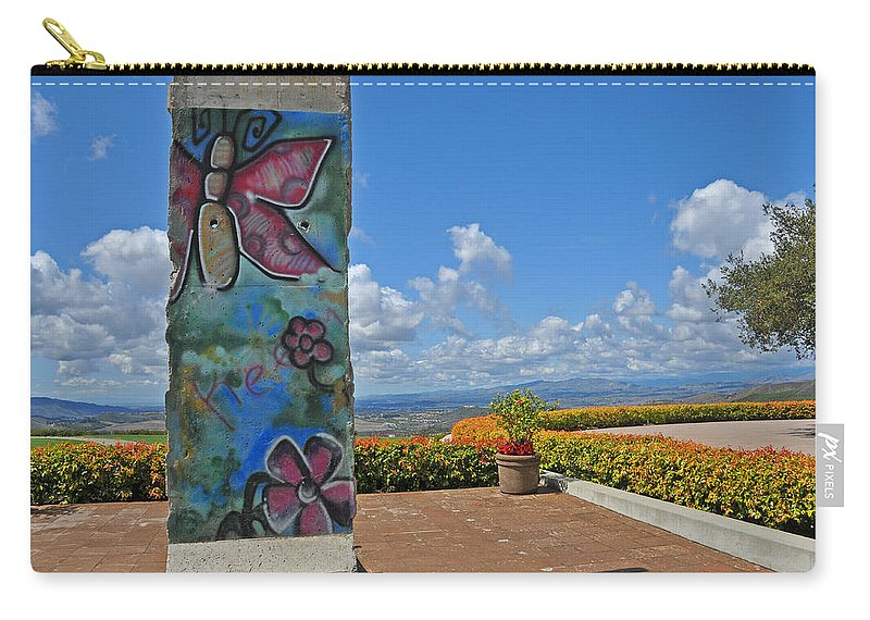 Berlin Wall Carry-all Pouch featuring the photograph Free - The Berlin Wall by Lynn Bauer