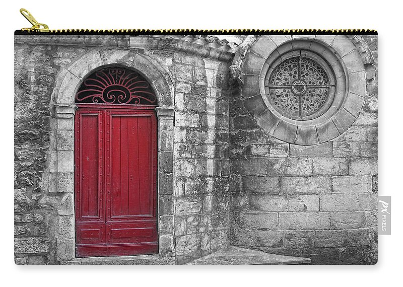 France Carry-all Pouch featuring the photograph French Church Exterior by Dave Mills