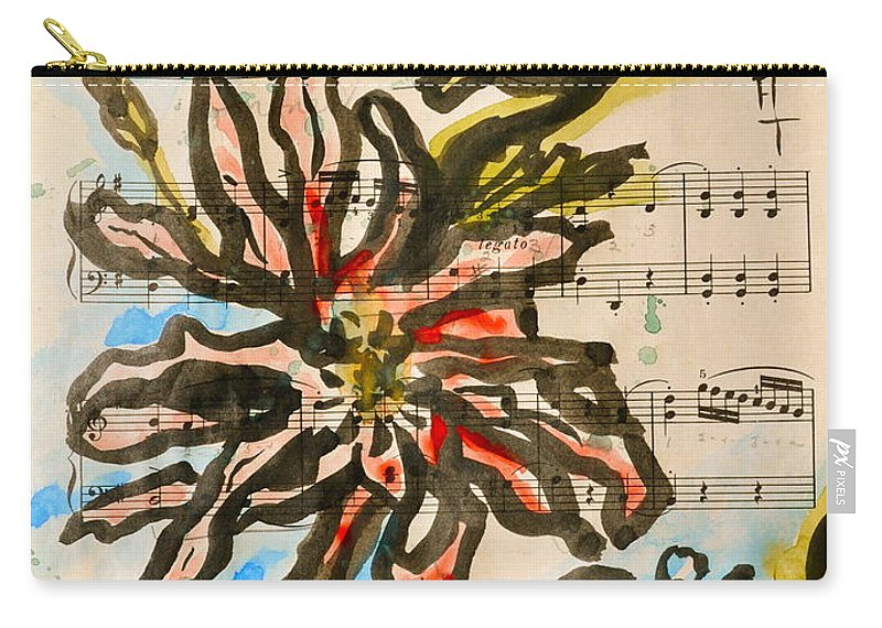 Magnolia Carry-all Pouch featuring the painting French Magnolia Minuet by Beverley Harper Tinsley