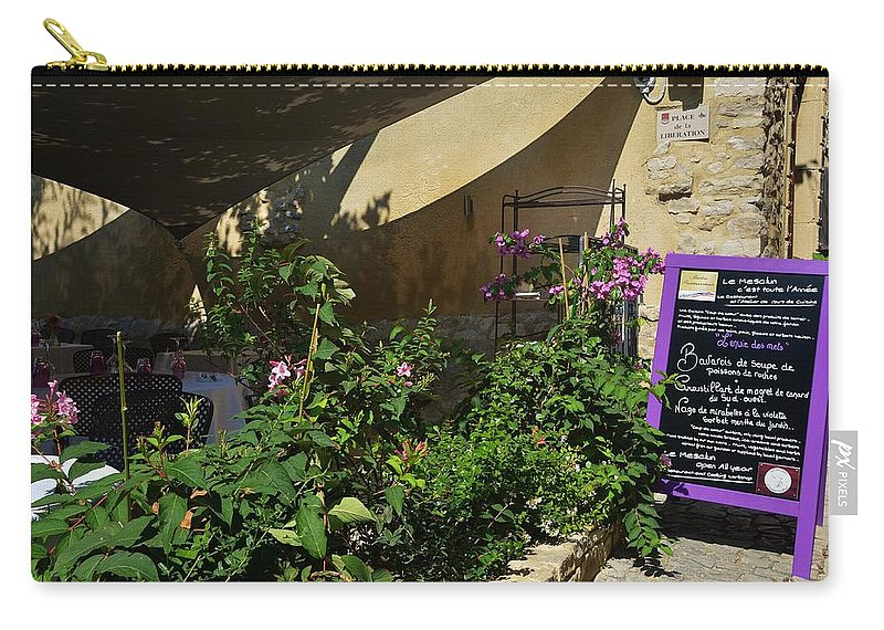 France Carry-all Pouch featuring the photograph French Restaurant by Dany Lison