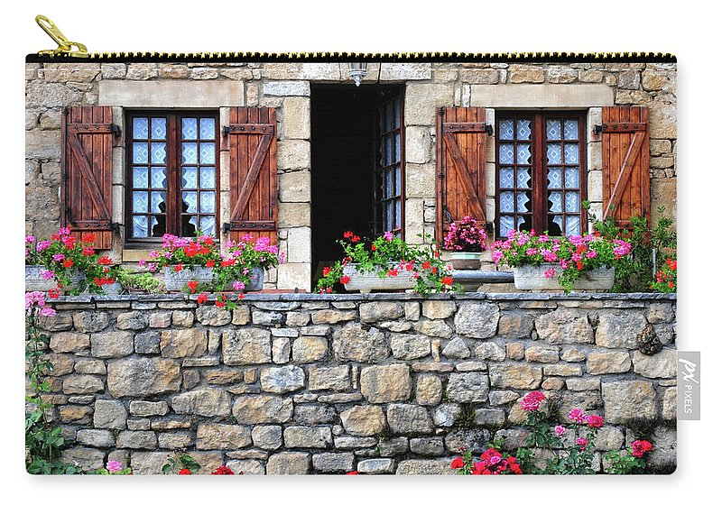 France Carry-all Pouch featuring the photograph French Stone House by Dave Mills